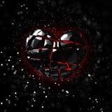 Brilliant ruby on black background. Black Crystal. Stock Images