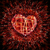 Brilliant ruby on black background. Red Crystal. Royalty Free Stock Photos