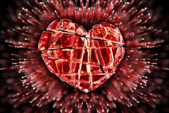 Brilliant ruby on black background. Red Crystal. Royalty Free Stock Photography
