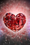 Brilliant ruby on black background. Red Crystal. Stock Photos