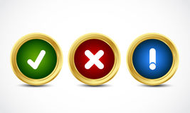 Brilliant security buttons Stock Image