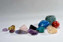 Brilliant semi-precious stones. As a design framework Stock Photo