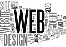 A Brilliant Set Up For Web Developmentword Cloud Stock Image