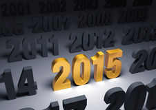 Brilliant 2015 Stock Images