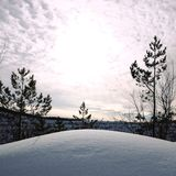 Snow hall in the open royalty free stock photo