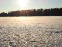 Brilliant snow. Brilliant, smooth snow on the lake Stock Photo