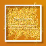 Brilliant sparkling background with frame. And space for text Stock Photo