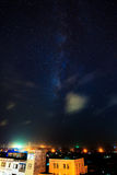 Brilliant Star,the coastal town at night. Brilliant sky, in the southern Chinese coastal town, quiet night, beautiful stars Stock Photos