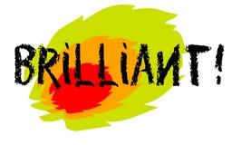 Brilliant sticker stamp. Brilliant sticker. Authentic design graphic stamp. Original series Royalty Free Stock Images