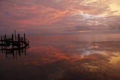 Brilliant Sunrise at Grassy Keys, Florida royalty free stock images