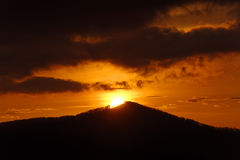 Brilliant Sunrise on Mountain Top Royalty Free Stock Photography