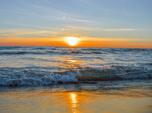 Brilliant sunrise over the waters of Lake Huron Stock Image