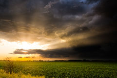 Brilliant Sunset Rays After a Storm Royalty Free Stock Image