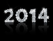 Brilliant text for the new year 2014. Vector Stock Images
