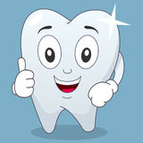 Brilliant Tooth Character with Thumbs Up Stock Photography