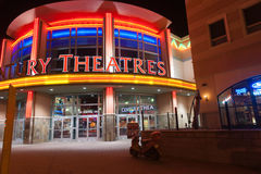 Brilliantly lit Century Theaters Albuquerque Royalty Free Stock Photo