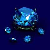 Brilliants diamonds. Magnificent gift brilliants diamonds female jeweller ornaments Stock Images