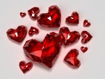 Brilliants rossi del cuore illustrazione vettoriale