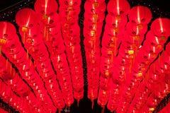 Brillo chino rojo de las linternas por Año Nuevo Imagen de archivo libre de regalías