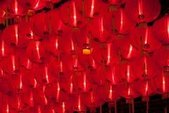 Brillo chino rojo de las linternas por Año Nuevo Fotos de archivo