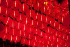 Brillo chino rojo de las linternas por Año Nuevo Fotografía de archivo