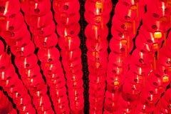 Brillo chino rojo de las linternas por Año Nuevo Imagenes de archivo