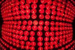 Brillo chino rojo de las linternas por Año Nuevo Imagen de archivo