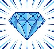 Brillo del diamante Imagen de archivo libre de regalías