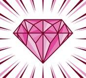 Brillo del diamante Foto de archivo libre de regalías