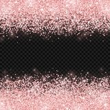 Brillo del oro de Rose en fondo transparente oscuro Vector libre illustration