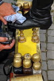 Brillo del zapato Imagen de archivo libre de regalías