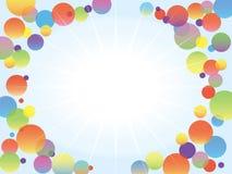 Brillo en el medio de burbujas del color/del ejemplo divertido Imagen de archivo libre de regalías