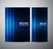 Brillo geométrico azul abstracto Recursos gráficos para la plantilla del diseño de negocio ilustración del vector