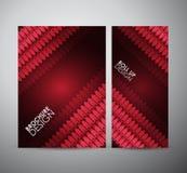 Brillo geométrico rojo abstracto Recursos gráficos para la plantilla del diseño de negocio Imagen de archivo