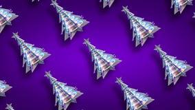 Brillo púrpura v3 del lazo del árbol de Navidad de la decoración de la Navidad metrajes