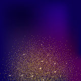 Brillo y arena brillante, fondo coloreado del oro Foto de archivo libre de regalías
