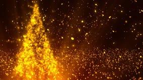 Brillos 3 del árbol de navidad stock de ilustración