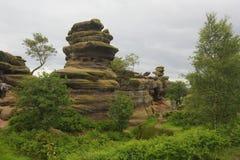 Brimham岩层 免版税库存照片
