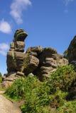 Brimham岩石看法,约克夏,英国 图库摄影