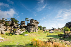 Brimham Rocks on a sunny day Stock Photos