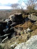 Brimham rocks. The rocks on a sunny February day Stock Images