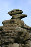 Brimham's Rocks. In Yorkshire, England, 300 000 000 years old formations Royalty Free Stock Image