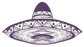 Brimmed het sombrero Mexicaanse nationale traditionele stro wijd hoed royalty-vrije illustratie