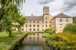 Brimscombe Port Mill, stone-built mill complex of early to mid C19 date, Stroud stock images