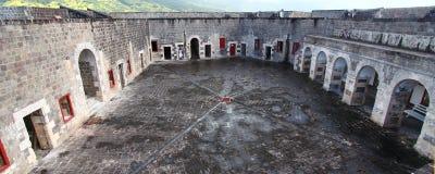 Brimstone Hill Fortress - Citadel. Panoramic view of the Citadel of Brimstone Hill Fortress on Saint Kitts Royalty Free Stock Photo