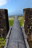Brimstone Hill Fortress - Saint Kitts. A Cannon at Brimstone Hill Fortress National Park on Saint Kitts Royalty Free Stock Image