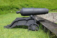Brimstone Hill Fortress - St Kitts. A cannon at Brimstone Hill Fortress National Park on Saint Kitts Royalty Free Stock Image