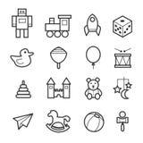 Brinca a coleção do ícone Fotografia de Stock