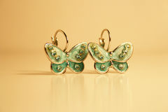 Brincos da borboleta Fotografia de Stock Royalty Free
