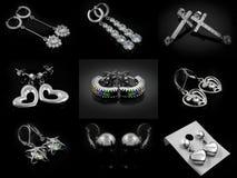 Brincos da joia - para mulheres - de aço inoxidável Foto de Stock